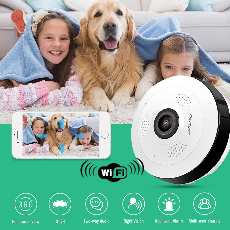 Meisort Fisheye VR Panoramiczna mini kamera WiFi 960PH sieć - Bezpieczeństwo i ochrona - Zdjęcie 6