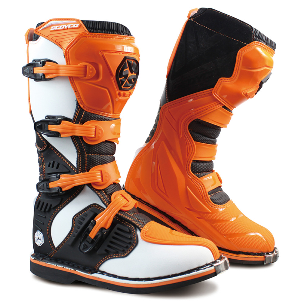 Professional Leather Motorcycle Boots Botas Moto Motocross Botte Stivali Motociclista Motosiklet MBM001A Men Women Racing Shoes-in Motocycle Boots from Automobiles & Motorcycles    1