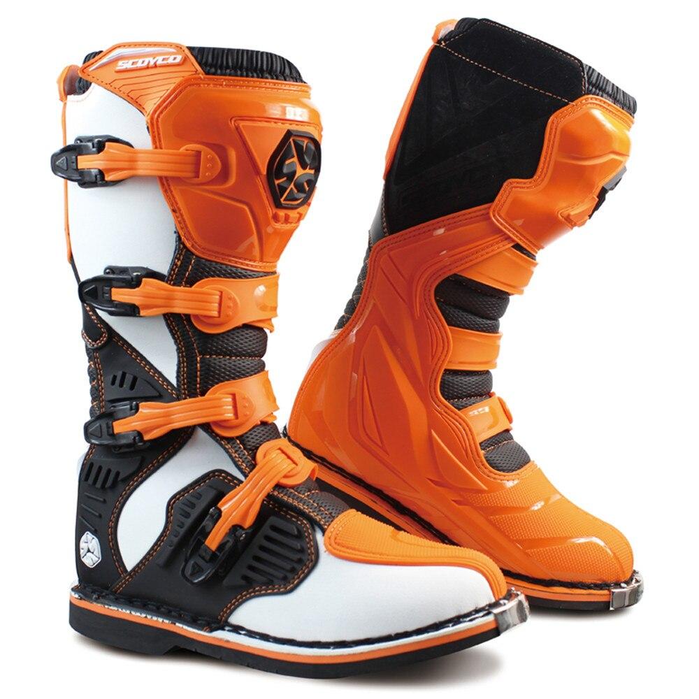 Profissional botas de couro da motocicleta botas moto motocross stivali motociclista mbm001a