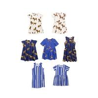 Pre Sale BOBOZONE 2018SS Horse Donkey Print Dress Kids Tank Dress
