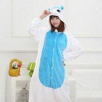 Animal Kigurumi Pijama Adult Women Unicorn Onesie Flannel Soft Men Pajama Sleepwear Onepiece Sleeping Jumpsuit Cosplay