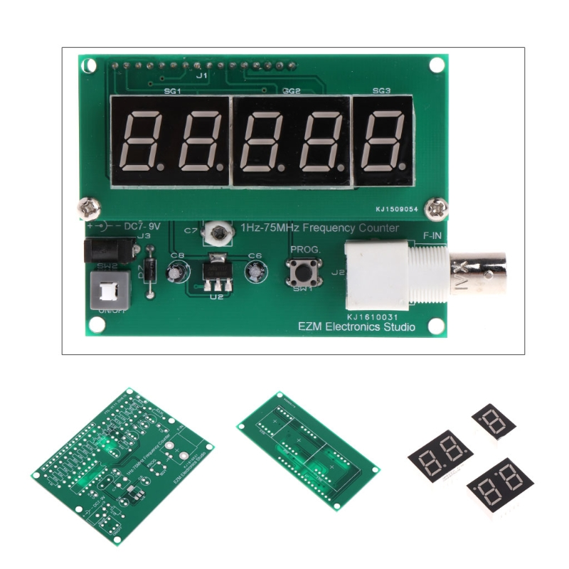 1Hz-75MHz High Sensitivity Frequency Meter frequency counter 7V-9V 50mA DIY Kit cymometer Measurement Tester Module