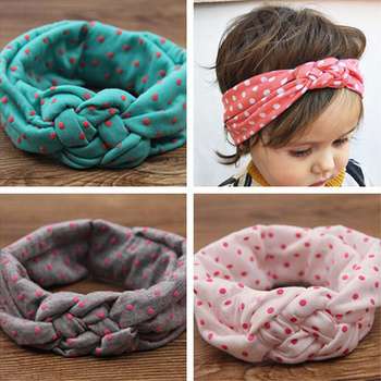 Kids Printing Knot Hair Band Newborn Elastic Cotton Headband Ring Hair Accessories Kids Headwear W146