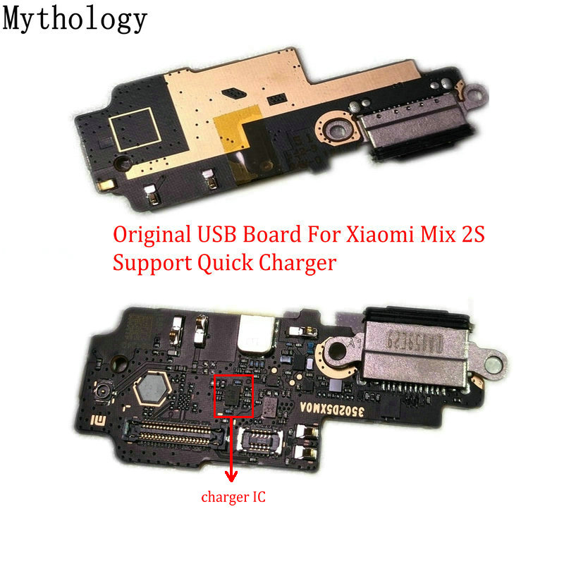 Mythology Original For Xiaomi MIX 2S USB Board Flex Cable Dock Connector Microphone Mobile Phone IC