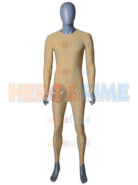 New Flesh Color Undersuit Fabric Spandex Long Sleeve Bodysuit Custom Made Available