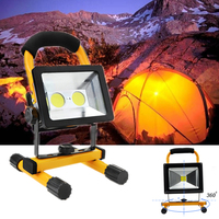 30W LED Portable Lantern Rechargeable Work Light Waterproof Lamp Outdoor Camping Hiking Emergency Floodlight EU/US Plug