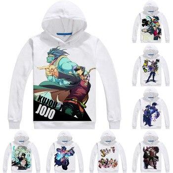 Kujo Jotaro Star Platinum Mens Hoodies JoJo's Bizarre Adventure Men Sweatshirt Streetwear Anime Hoodie Printed Long Hooded