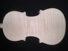 High Quality White Violin Unfinished 4/4 with Nice pattern & 1 PC whole maple Back Spruce Top ebony fingerboard DB072302