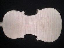 Hohe Qualität Weiß Violine Unfinished 4/4 mit Schönen muster & 1 STÜCK ganze ahornboden Fichtendecke ebenholz griffbrett DB072302