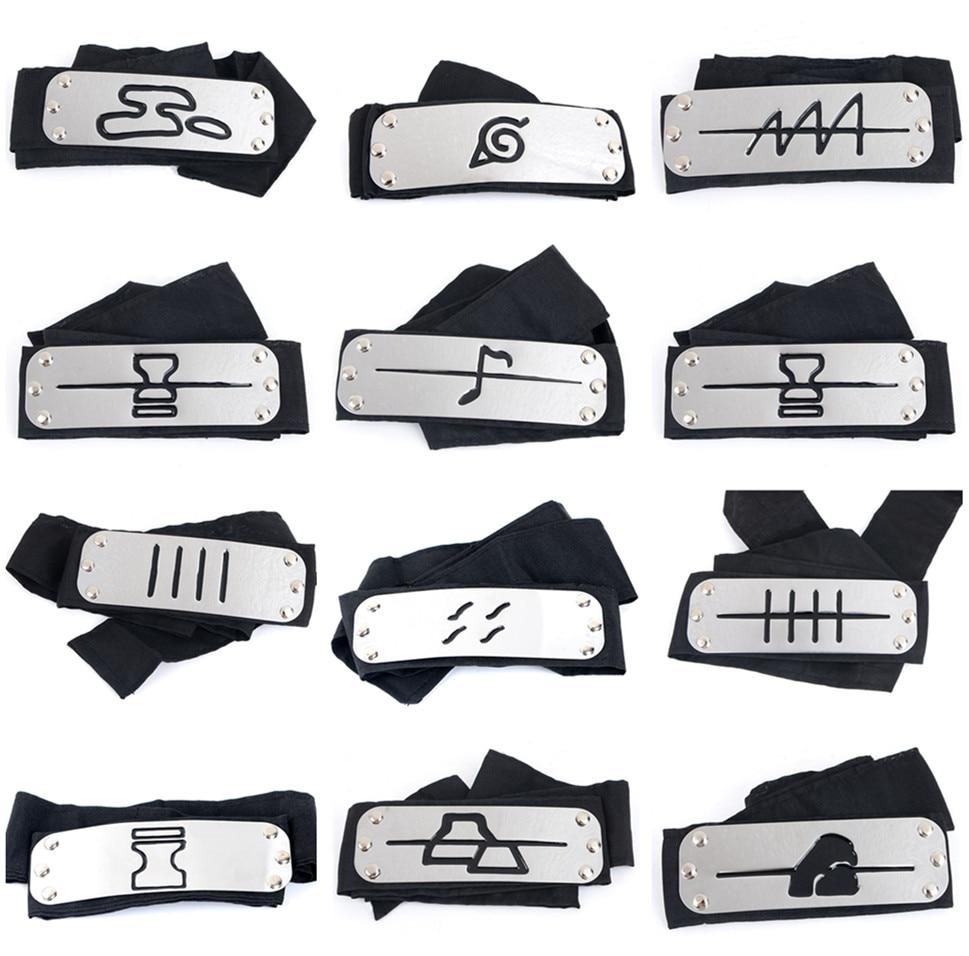 Naruto Kakashi Headband Cosplay Costumes Accessories Toys Props Itachi Akatsuki Madara Anime Headband Props Hot