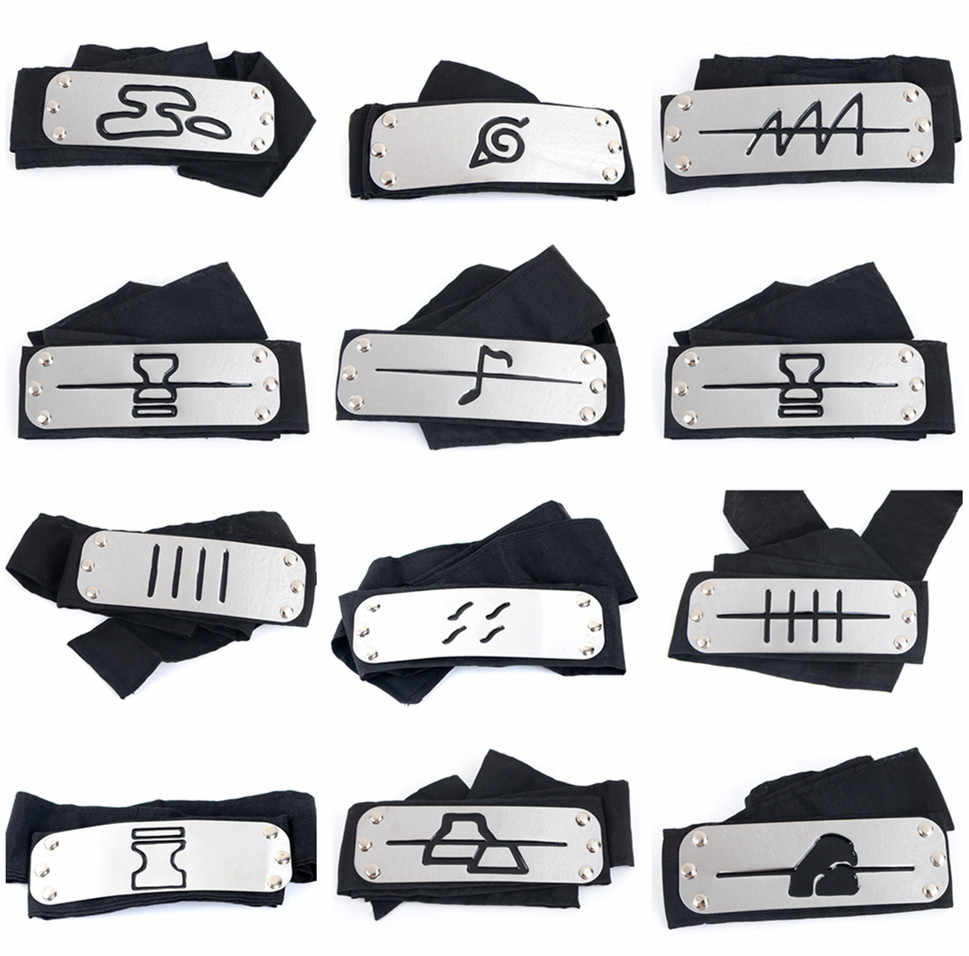Naruto Kakashi headband cosplay Costumes Accessories toys Props Itachi akatsuki madara Anime headband Props Hot