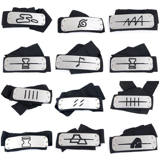 Naruto Kakashi headband Accessories Itachi akatsuki madara Anime headband