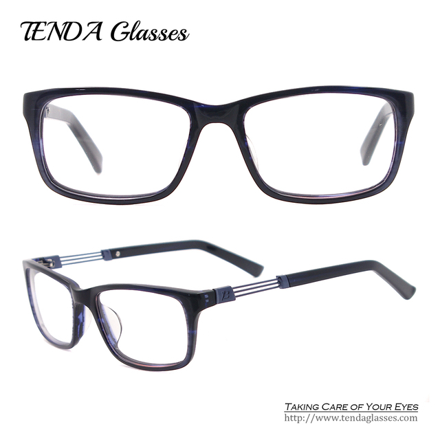 Acetate Full Rim Spectacles Fashion Glasses Designer Men Eyewear For Prescription Myopia & Reading Lenses