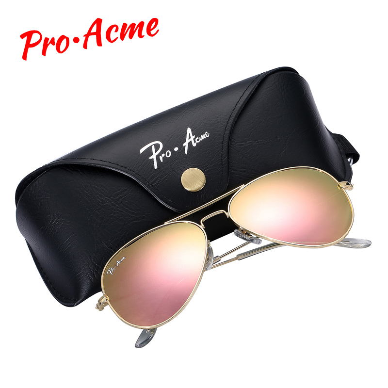 Pro Acme Top quality Crystal Glass Mirror Lens Large Metal Pilot - Apparel Accessories
