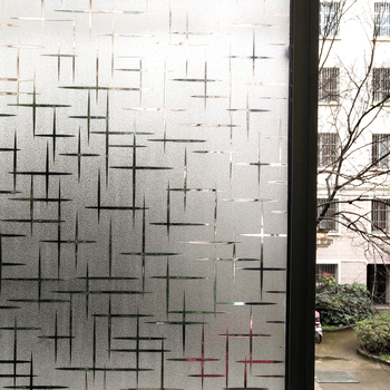 WXSHSH Privacy White Cross Non-Adhesive Frosted Window Film Removable Static Cling Decorative Glass Sticker No Glue UV Blocking wxshsh privacy white cross non adhesive frosted window film removable static cling decorative glass sticker no glue uv blocking