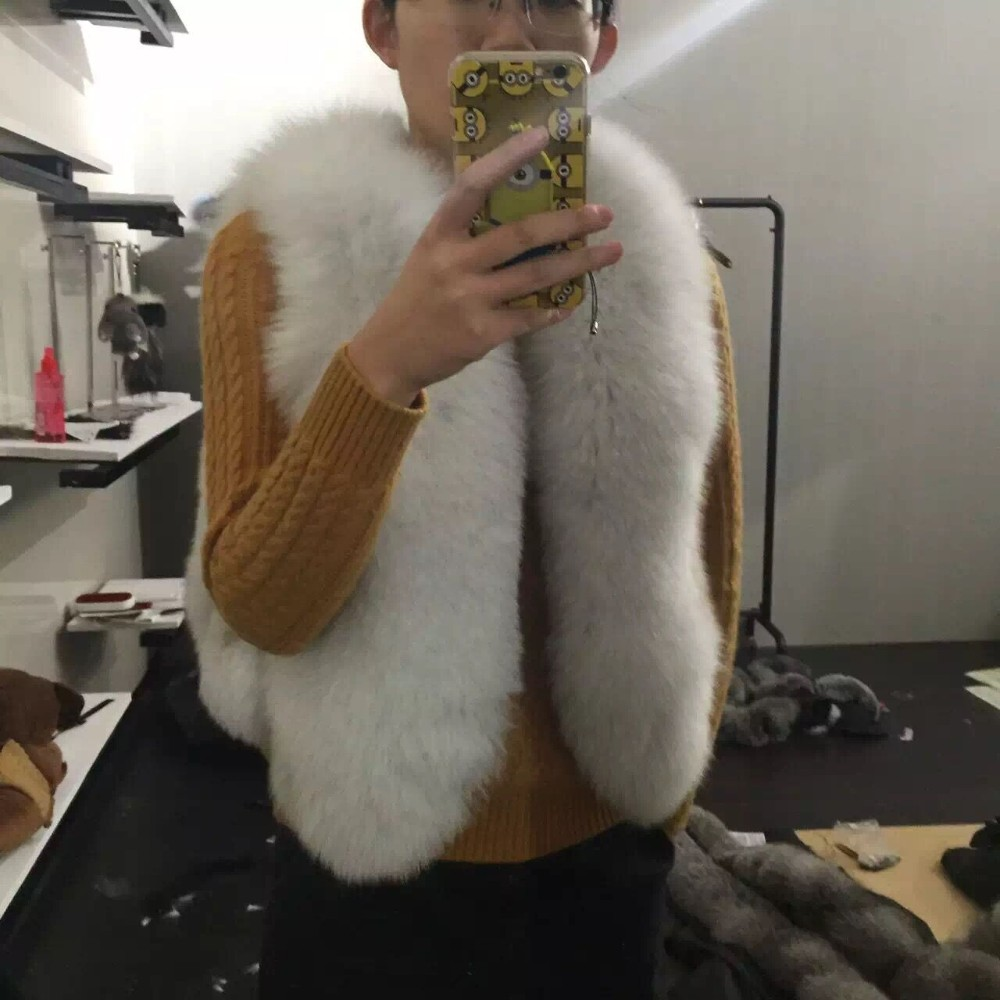 import whole skin fox fur waistcoat women real fur coat short paragraph natural fur vest