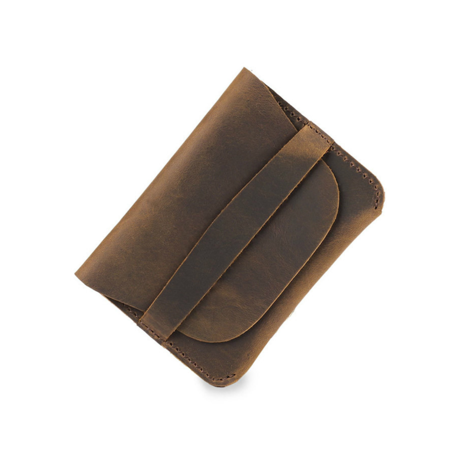 Moterm 100% Genuine Leather Credit ID Card Holder Vintage Business Card Holder Retro Male Coin Purses Wallets Free Shipping