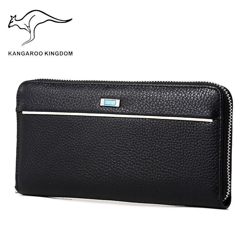 couro genuíno longo carteira masculina Composição : Cow Leather