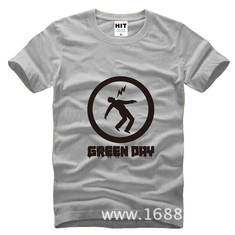 Green day punk printed mens men t shirt tshirt fashion for Sustainable t shirt printing