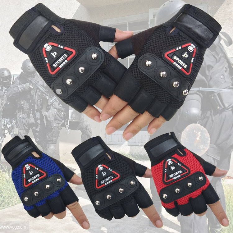 New Men's Summer Riding Leather Gloves Sports Motorcycle Mountain Bike Men's Gloves Mitts(China)