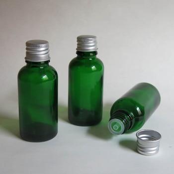 Wholesale 100pcs/lot 30ml Green Glass Vials Bottle With Cap, 30 mlg glass Essential Oil Bottle for Electronic Cigarette Liquid