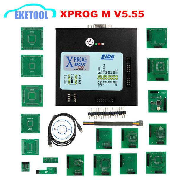 XPROG V5.55 V5.74 V5.84 X-PROG M Metal Box Xprog V5.84 XPROG-M ECU Programmer Tool  X Prog M Box V5.84 Full Adapters
