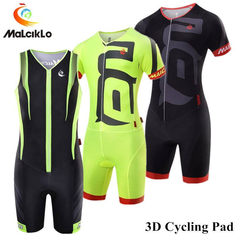 Malciklo Triathlon Skinsuit Cycling Jersey 2018 Pro 3D Gel Pad Pockets Cycling Clothing Maillot Ropa Ciclismo Mens Sports SuitsMalciklo Triathlon Skinsuit Cycling Jersey 2018 Pro 3D Gel Pad Pockets Cycling Clothing Maillot Ropa Ciclismo Mens Sports Suits