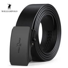 Williampolo Mens Belts Luxury Automatic Buckle Genune Leather Strap for Belt Designers Brand High Quality PL18327-28P