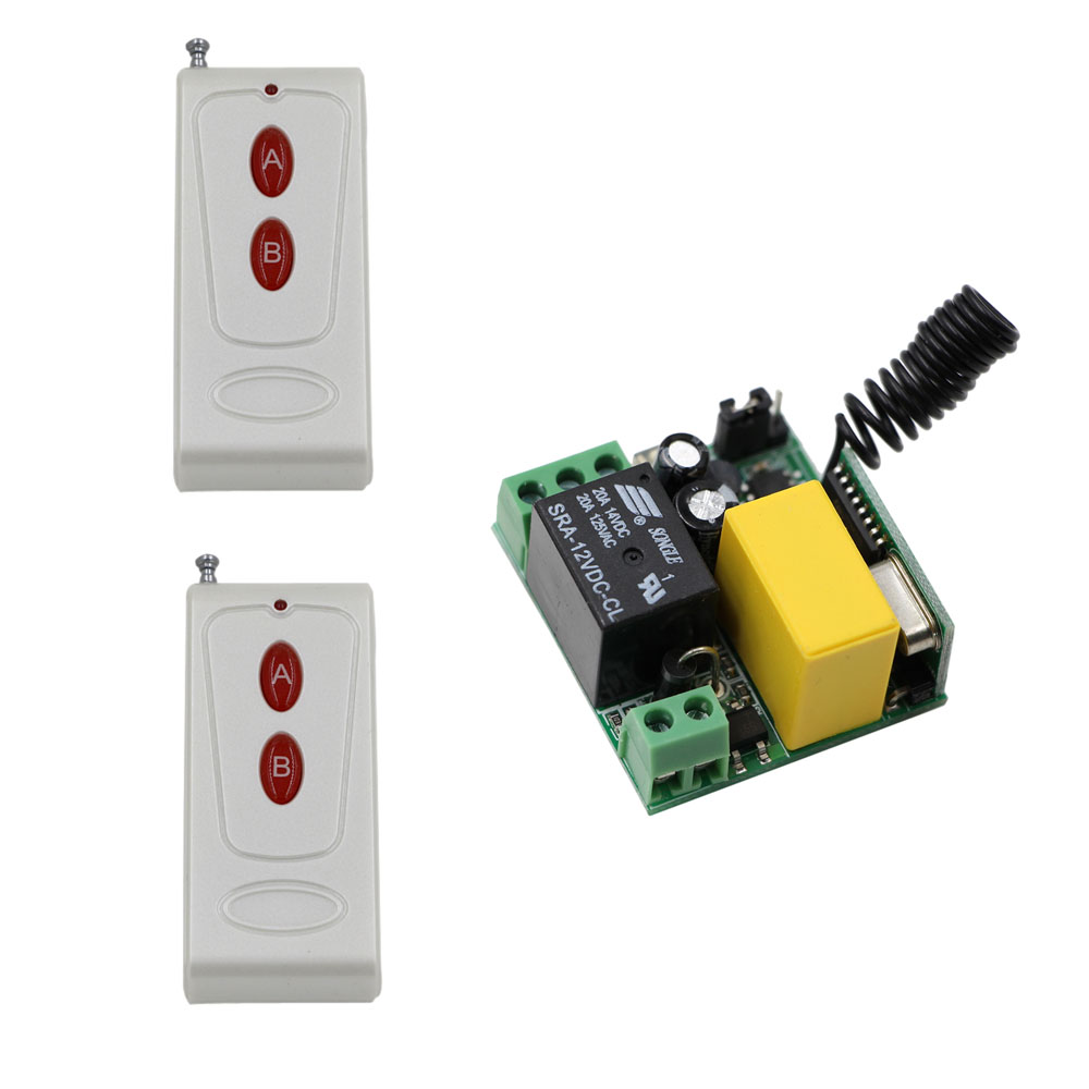 Hot Sale Wireless Remote Control Light Switch 10A Relay Radio AC 220V 1 Channel Mini Receiver Module + 20-200m Transmitter wireless remote control switch 10a mini relay receiver