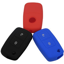 2 Button Silicone Key Case Key Cover for VOLKSWAGEN VW MK4 Seat Altea Alhambra Ibiza Polo Golf 4 5 6 Transporter Amarok Sharan(China)