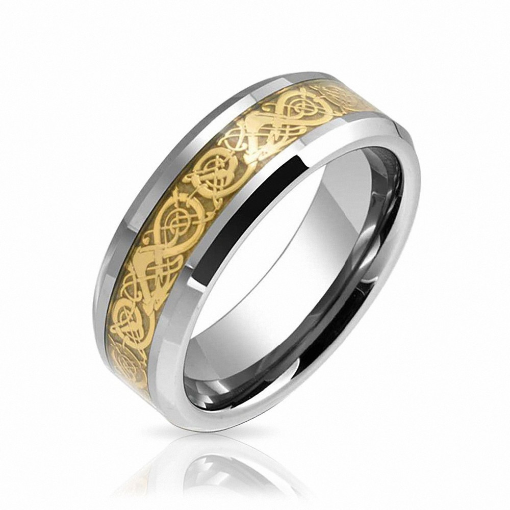 QueenWish-Tungsten-Carbide-Wedding-Ring-Band-8mm-Comfort-Fit-Gold-Tone-Celtic-Dragon-Inlay-Ring-Wedding-Rings