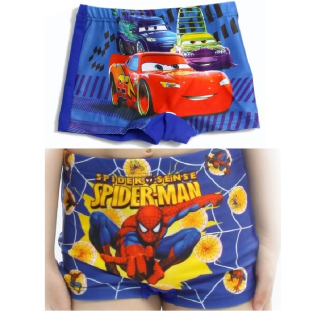5be1b26633 Flash de carro Do Homem Aranha Meninos swimwear Crianças Sunga Boxer Shorts  Crianças Calças de Praia