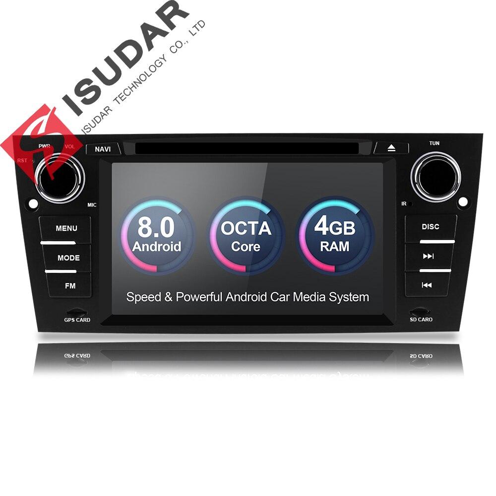 Isudar lecteur multimédia De Voiture GPS Android 8.0 Pour BMW/3 Série E90/E91/E92/E93 Radio Capacitif écran tactile Arrière vue caméra FM