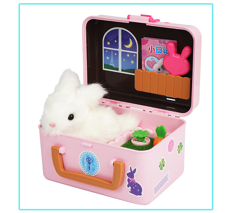 High Quality Cool Mini Rabbits Electronic Pets Toys Cute Rabbit Mode Toys For Girl Kids Gift