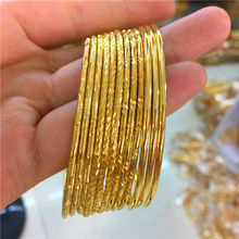 Fashionable high-quality fine circle bracelet Gold Color filled with gold wedding jewelry wholesale