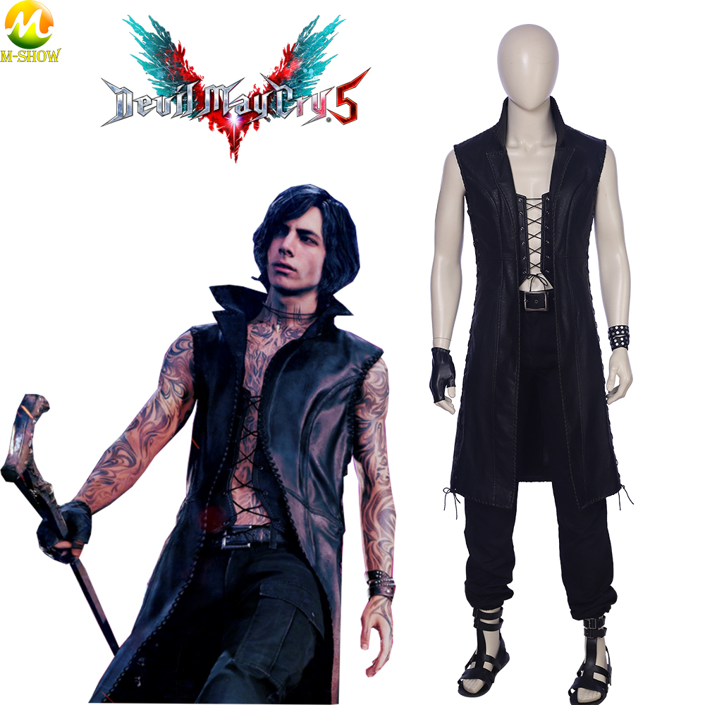 Game Devil May Cry 5 V Cosplay Costume Vitale Cosplay Clothing Halloween Costumes For Men Custom Made Free Shipping