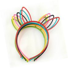 Hot Fashion Ears Hair Band For Child Multicolor Plastic Bows Long Bunny Hairsticks Funny Cute Headwear Kids