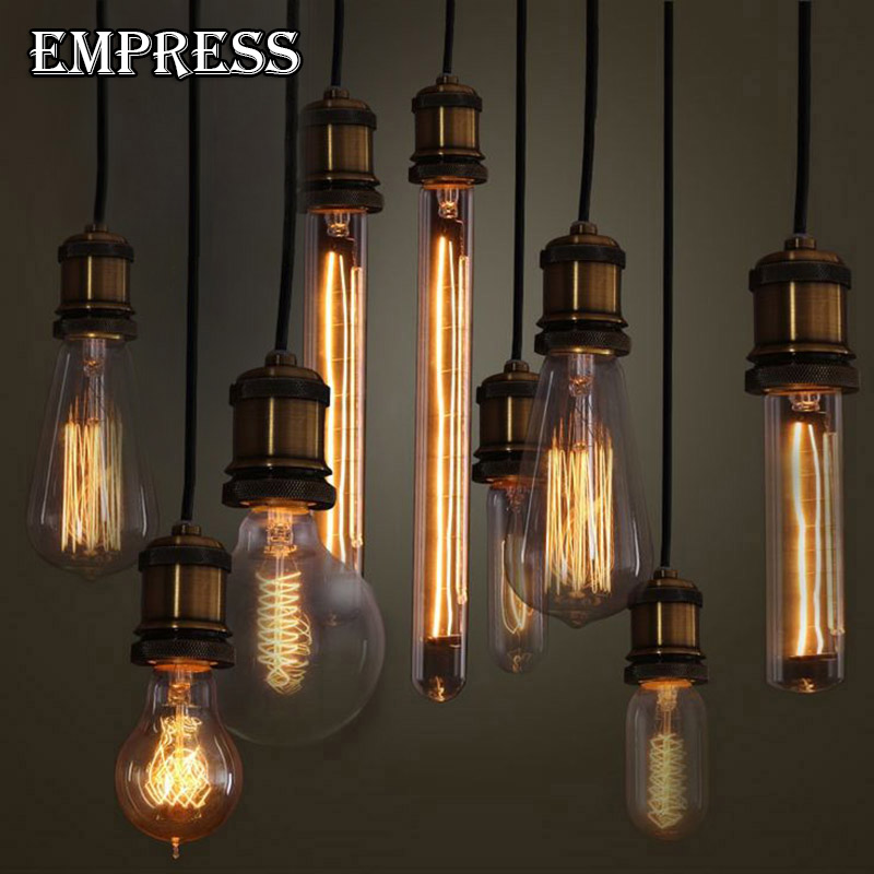 40W Filament ampoule vintage light bulb edison lamp retro bulb E27 220V old incandescent retro lamp decorative light edison bulb lumiparty antique light bulb classical edison bulb e27 8w filament tubular nostalgic filament incandescent home lamp