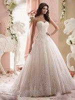 Beautiful New Model Sweetheart Neckline Lace Appliques Wedding Dress 2017 Xiangyihui Novias