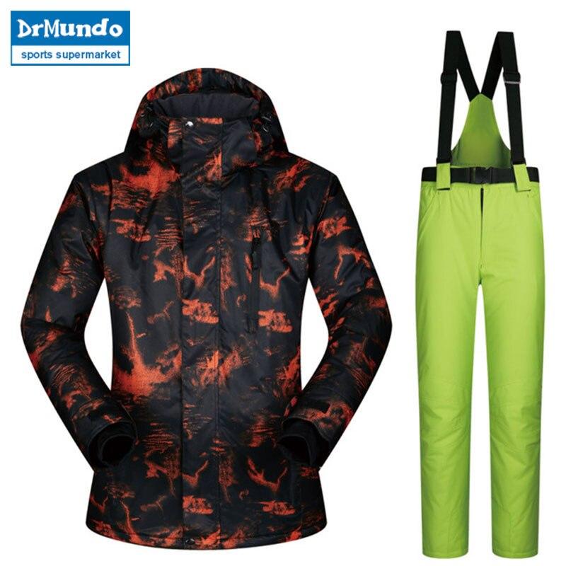 2018 combinaison de Ski hommes TY coupe-vent imperméable respirant épais veste de Snowboard d'hiver hommes pantalons de neige vestes de Ski marques