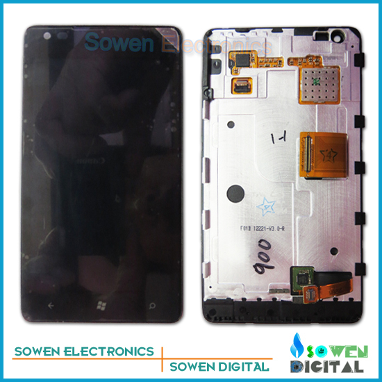 ФОТО for Nokia lumia 900 LCD display screen with touch screen digitizer with frame assembly full sets,100% Best quality,Tools