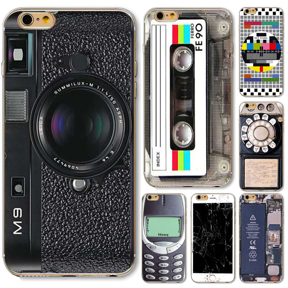 For iPhone 6 6s Case Old Style 3310 Funny Gameboy Videotape Camera ...