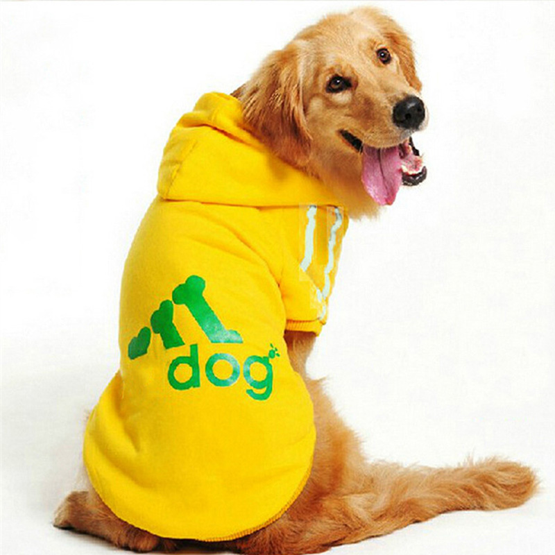 गोल्डन कुत्ता कुत्तों के लिए बड़े कुत्ते के कपड़े बड़े आकार के शीतकालीन कुत्तों कोट हूडि परिधान कुत्तों के लिए कपड़े