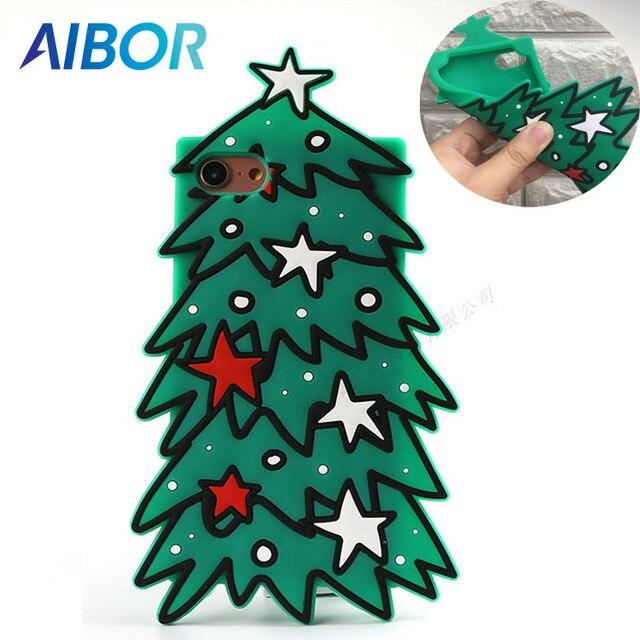 Funda De Teléfono Móvil 3d árboles De Navidad Bonitos Para Iphoen X