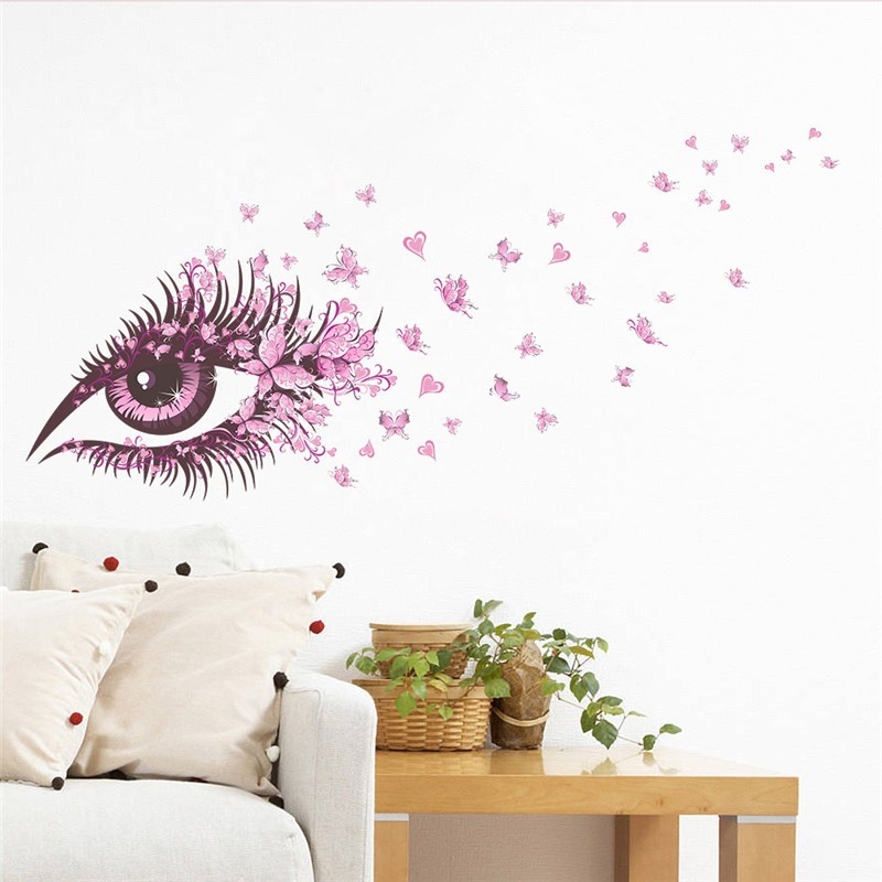 HTB1gSUHOVXXXXcGXXXXq6xXFXXXR - Charming Romantic Fairy Girl Wall Sticker For Kids Rooms Flower butterfly LOVE heart