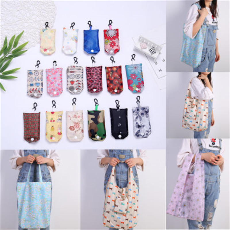 20 Stks Of 1 St Eco Shopping Reizen Shoulder Bag Pouch Tote Handtas Folding Herbruikbare Zakken