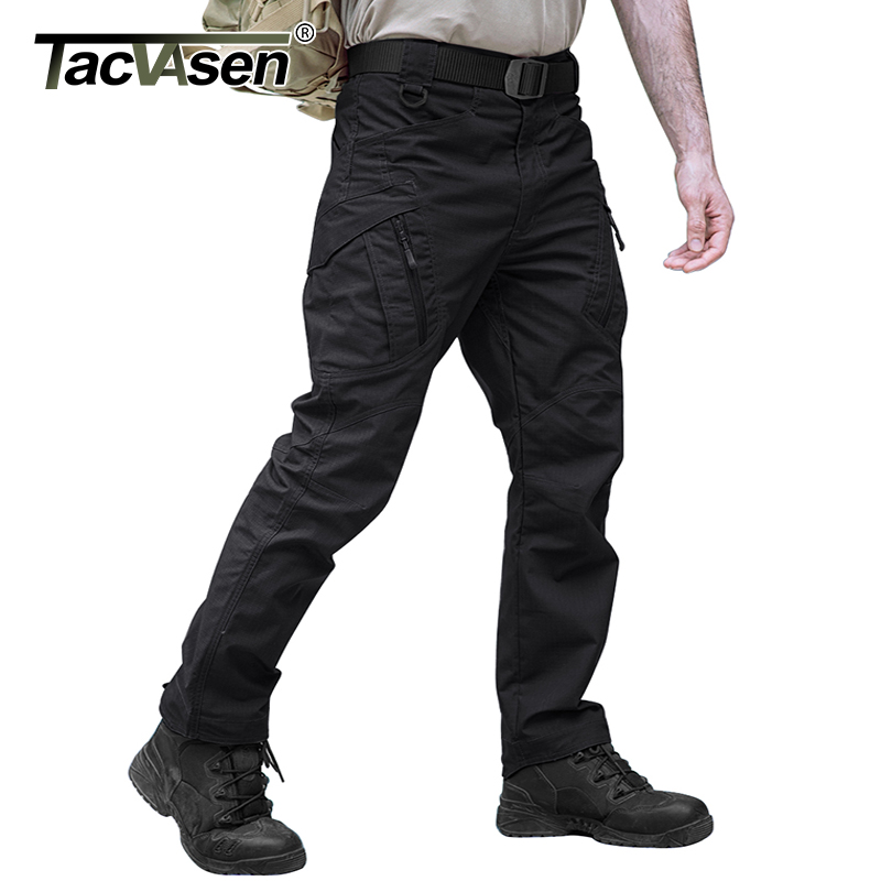 TACVASEN Tactical Pants Men Military Clothing Outdoor Work Cargo Pants Men Airsoft Army Combat Trousers Stretch Assault Pants