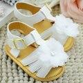 Bebé del Verano de La Flor Blanca Zapatos de Las Muchachas Infantiles Suaves Únicos Zapatos de La Princesa Prewalker