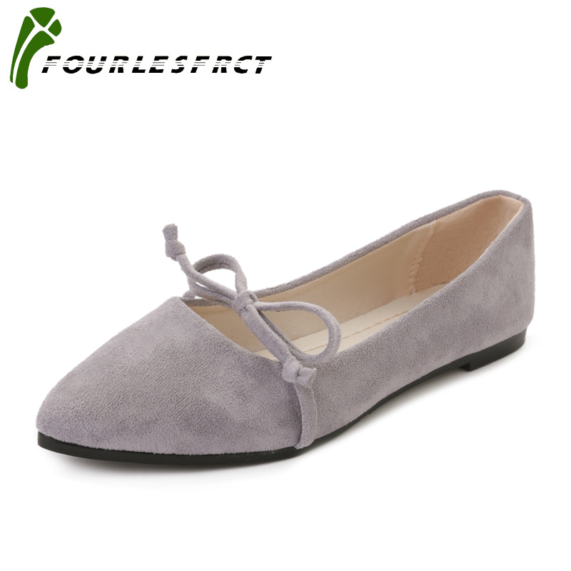 2017 Fashion Women Shoes Woman Flats high quality Flock Casual Comfortable pointed toe Rubber Women Flat Shoe Hot Sale New Flats 2017 new fashion spring ladies pointed toe shoes woman flats crystal diamond silver wedding shoes for bridal plus size hot sale