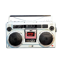 Retro Vintage Retro Tape Recorder Tape Drive Creative Metal Crafts Vintage Home Decor Radio Ornament Home Decoration Accessories